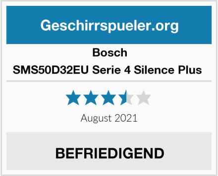 Bosch SMS50D32EU Serie 4 Silence Plus  Test