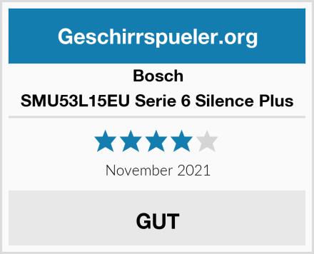 Bosch SMU53L15EU Serie 6 Silence Plus Test