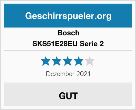 Bosch SKS51E28EU Serie 2 Test