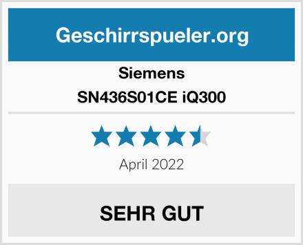 Siemens SN436S01CE iQ300 Test