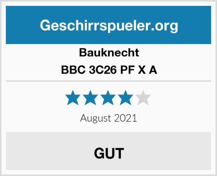 Bauknecht BBC 3C26 PF X A Test
