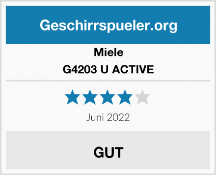 Miele G4203 U ACTIVE Test