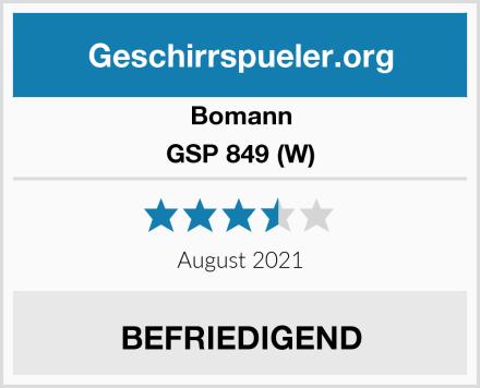 Bomann GSP 849 (W) Test