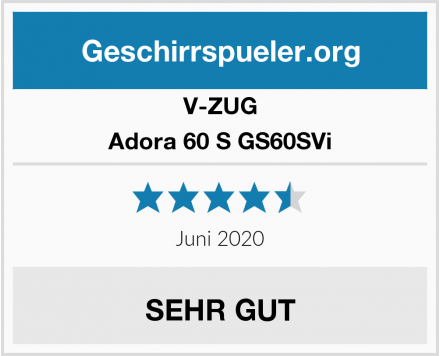 V-ZUG Adora 60 S GS60SVi Test