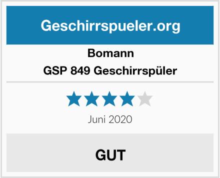 Bomann GSP 849 Geschirrspüler Test