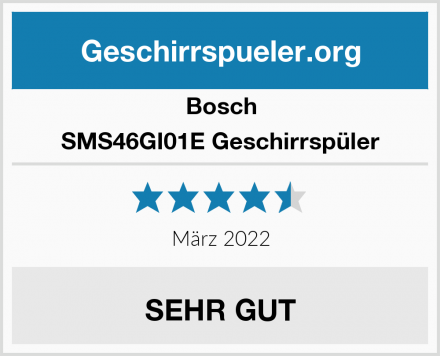 Bosch SMS46GI01E Geschirrspüler Test