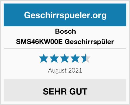 Bosch SMS46KW00E Geschirrspüler Test