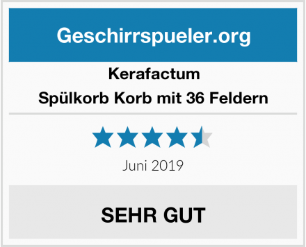Kerafactum Spülkorb Korb mit 36 Feldern Test