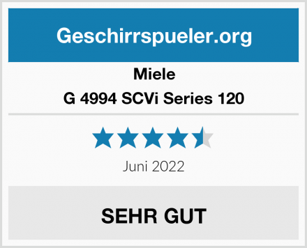 Miele G 4994 SCVi Series 120 Test