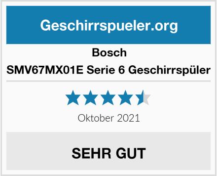 Bosch SMV67MX01E Serie 6 Geschirrspüler Test