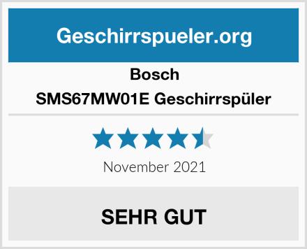 Bosch SMS67MW01E Geschirrspüler Test