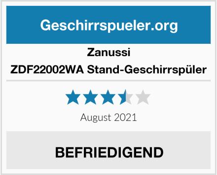 Zanussi ZDF22002WA Stand-Geschirrspüler Test