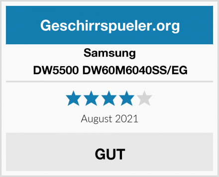 Samsung DW5500 DW60M6040SS/EG Test