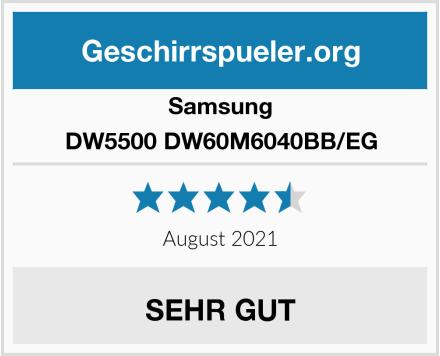 Samsung DW5500 DW60M6040BB/EG Test