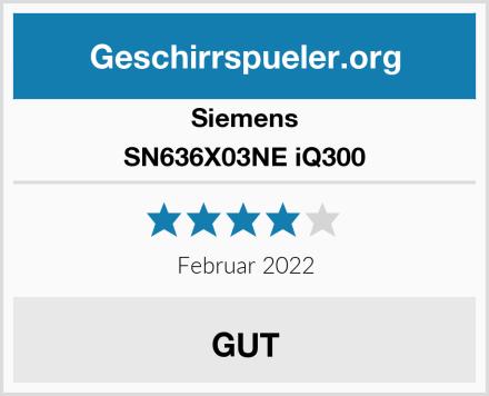 Siemens SN636X03NE iQ300 Test