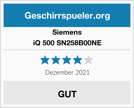 Siemens iQ 500 SN258B00NE Test
