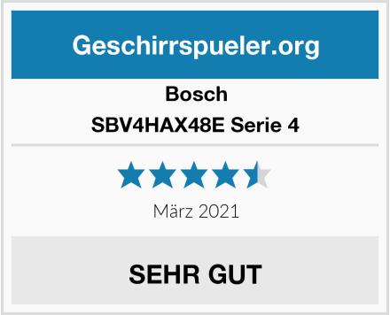 Bosch SBV4HAX48E Serie 4 Test