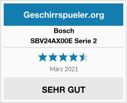 Bosch SBV24AX00E Serie 2 Test